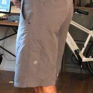 Lululemon Men's Shorts Grey Size 34 w Phone Pocket